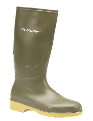 Dunlop Youth Wellington Boots Green W028E