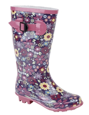 Stormwells Girls Floral Wellington Boots W153PM