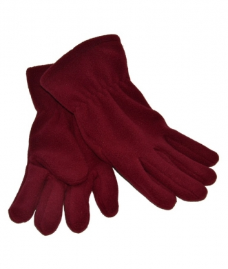 Fleece Gloves Maroon