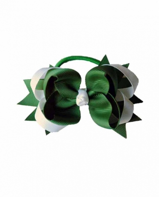 Eden Hair Bobble Green and White