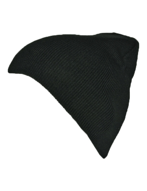 Knitted Beanie Hat Black