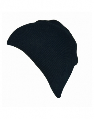 Knitted Beanie Hat Navy