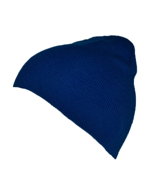 Knitted Beanie Hat Royal