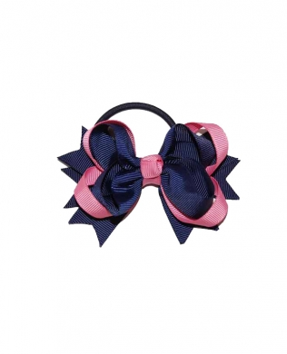 Eden Hair Bobble Navy and Pink