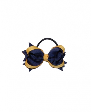 Eden Hair Bobble Navy and Yellow