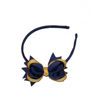 Eden Alice Band Navy and Yellow