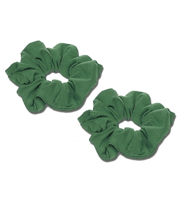 Scrunchie 2pk Bottle Green (Jersey or Velvet)