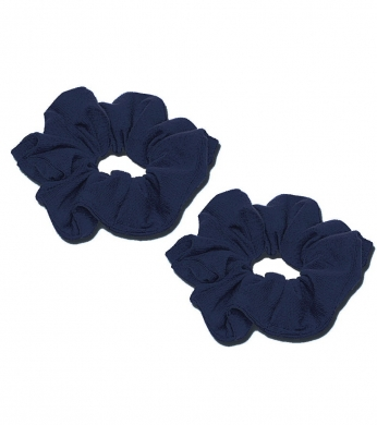 Scrunchie 2pk Navy (Jersey or Velvet)