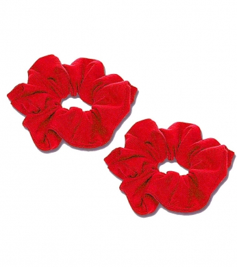 Scrunchie 2pk Red (Jersey or Velvet)