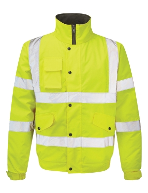 Fortress Hi-Vis 265 Waterproof Bomber Jacket