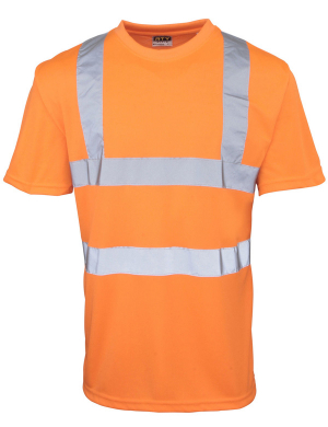 RTY Hi-Vis HV71 T-Shirt Fluorescent Orange