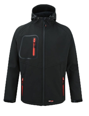 Castle Softshell Hooded Jacket 255 Hertford Black
