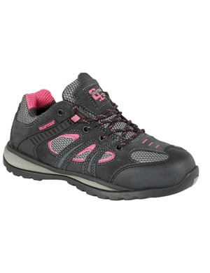 Grafters Ladies L986FP Work Trainer Blk/Pink
