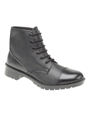 Grafters M166A 6 Eye Cadet Boot Black