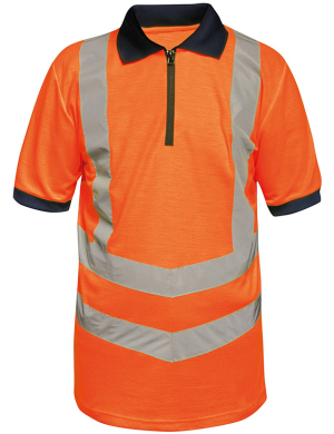 Regatta RG477 Hi-Vis Pro Contrast Piqué Polo Shirt Orange