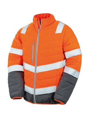 Result RS325M Safe-Guard Soft Safety Jacket Fluorescent Orange