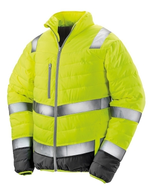 Result RS325M Safe-Guard Soft Safety Jacket Fluorescent Yellow