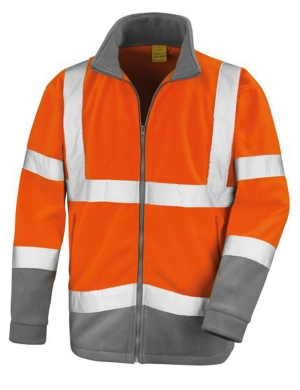 Result Hi-Vis RS329 Safe-Guard Microfleece Jacket Fluorescent Orange