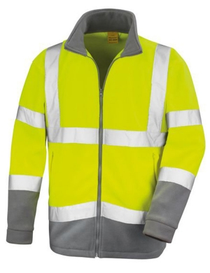 Result Hi-Vis RS329 Safe-Guard Microfleece Jacket Fluorescent Yellow