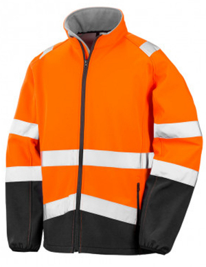 Result Hi-Vis RS450 Safety Jacket Fluorescent Orange/Black