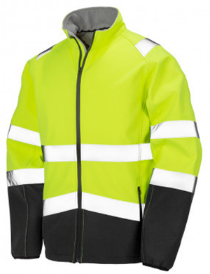 Result Hi-Vis RS450 Safety Jacket Fluorescent Yellow/Black