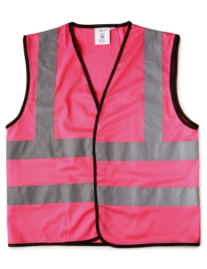 William Turner Kids WA08 Safety Waistcoat Pink