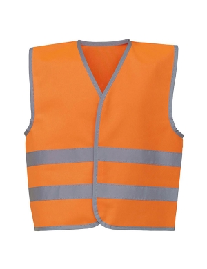 Yoko Kids Hi-Vis YK102 Two Band Waistcoat Fluorescent Orange