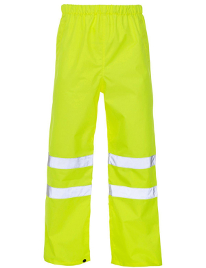 Yoko Hi-Vis YK210 Waterproof Overtrousers Yellow
