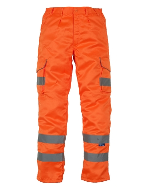 Yoko Hi-Vis YK301 Cargo Trousers with Knee Pad Pockets